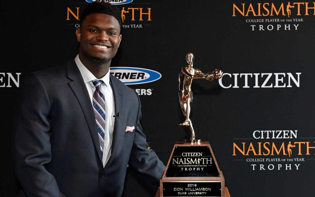Zion Williamson Wins 2019 Citizen Naismith Trophy for Men's Player of the Year