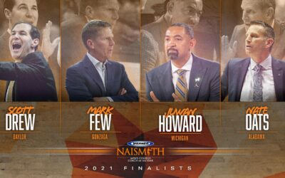 Drew, Few, Howard and Oats Named 2021 Werner Ladder  Naismith Men's Coach of the Year Finalists
